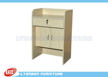 Customize Wood Reception Desk ODM For Customer Service / 1000mm * 500mm * 1100mm