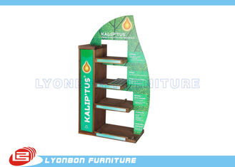 Mall Center Green Solid Wood Countertop Display Stand MDF , 450mm * 200mm * 700mm